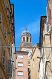 alleyway Macerata La Marche L'Italia Fotografie Stock Libere da Diritti