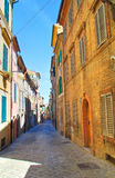 alleyway Macerata La Marche L'Italia Fotografia Stock
