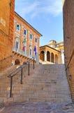 alleyway Macerata Marche Italië stock afbeelding
