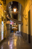 Alleyway in Malaga at Night Royalty Free Stock Images
