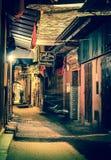 Alleyway in Marrakesh at night. Long exposure of Alleyway in Marrakesh at night in warm colours Stock Image