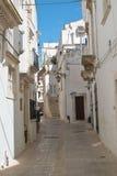 alleyway Martina Franca La Puglia L'Italia Fotografia Stock