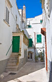 Alleyway. Martina Franca. La Puglia. L'Italia. Immagini Stock Libere da Diritti