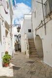 alleyway Martina Franca La Puglia L'Italia Fotografie Stock