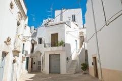 alleyway Martina Franca La Puglia L'Italia Immagine Stock