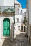 alleyway Martina Franca Puglia Italië royalty-vrije stock fotografie