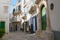 alleyway Martina Franca Puglia Italy imagem de stock