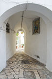 Alleyway. Martina Franca. Puglia. Italy. Royalty Free Stock Images