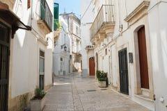 Alleyway. Martina Franca. Puglia. Italy. Royalty Free Stock Images
