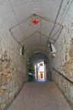 alleyway Minervino Murge La Puglia L'Italia Immagini Stock Libere da Diritti