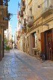 alleyway Molfetta La Puglia L'Italia Immagini Stock Libere da Diritti