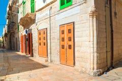 alleyway Molfetta La Puglia L'Italia Fotografia Stock Libera da Diritti