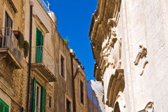 Alleyway. Molfetta. Puglia. Italy. Royalty Free Stock Photography