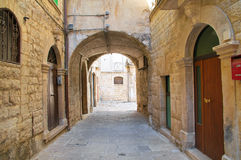 Alleyway. Molfetta. Puglia. Italy. Stock Photo