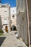 alleyway Monopoli La Puglia L'Italia Fotografie Stock Libere da Diritti