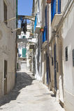 Alleyway in Monopoli Oldtown. Apulia. Immagini Stock