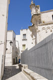 Alleyway in Monopoli Oldtown. Apulia. Royalty Free Stock Photo