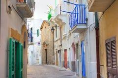 alleyway Monopoli Puglia Italië Stock Fotografie