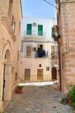 alleyway Monopoli Puglia Italië royalty-vrije stock afbeelding