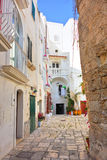 Alleyway. Monopoli. Puglia. Italy. Royalty Free Stock Photography
