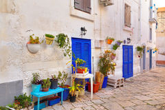 Alleyway. Monopoli. Puglia. Italy. Royalty Free Stock Images