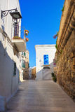 Alleyway. Monopoli. Puglia. Italy. Royalty Free Stock Photo
