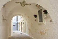 Alleyway of Monopoli. Puglia. Italy. Royalty Free Stock Photography