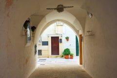 Alleyway of Monopoli. Puglia. Italy. Royalty Free Stock Image