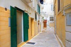Alleyway of Monopoli. Puglia. Italy. Stock Photo