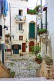 Alleyway of Monopoli. Puglia. Italy. Royalty Free Stock Photos