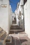 Alleyway. Monte Sant'Angelo. La Puglia. L'Italia. Immagini Stock Libere da Diritti