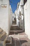 Alleyway. Monte Sant'Angelo. Puglia. Italy. Royalty Free Stock Images