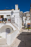 Alleyway. Monte Sant'Angelo. Puglia. Italy. Stock Image