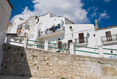 Alleyway. Monte Sant'Angelo. Puglia. Italy. Royalty Free Stock Photo