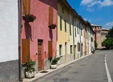 Alleyway. Montechiarugolo. L'Emilia Romagna. L'Italia. Fotografia Stock Libera da Diritti