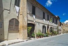 Alleyway. Montefalco. L'Umbria. Fotografia Stock Libera da Diritti