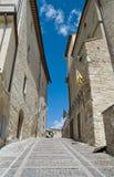 Alleyway. Montefalco. L'Umbria. Fotografia Stock