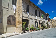 Alleyway. Montefalco. Umbria. Royalty Free Stock Photography
