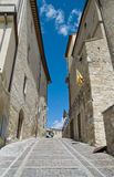 Alleyway. Montefalco. Umbria. Stock Photography