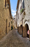 Alleyway. Montefalco. Umbria. Royalty Free Stock Image