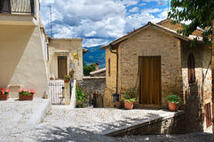 Alleyway. Montefalco. Umbria. Royalty Free Stock Photo