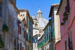Alleyway. Montefiascone. Il Lazio. L'Italia. Fotografia Stock