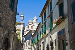 Alleyway. Montefiascone. Lazio. Italy. Stock Photos