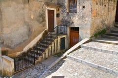 alleyway Morano Calabro Calabrië Italië Stock Foto's