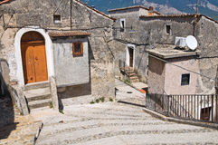 Alleyway. Morano Calabro. Calabria. Italy. Royalty Free Stock Image