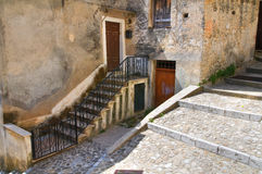 Alleyway. Morano Calabro. Calabria. Italy. Stock Photos