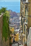 An alleyway of Naples that leads to the port. royalty free stock photo