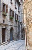Alleyway. Narni. L'Umbria. L'Italia. Fotografia Stock Libera da Diritti
