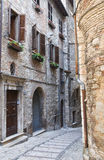 Alleyway. Narni. Umbria. Italy. Royalty Free Stock Photo