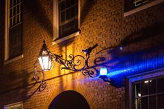 Alleyway by night Stock Photography